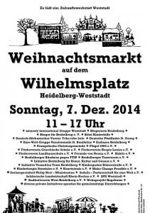 Weihnachtsmarkt auf dem Wilhelmsplatz am 7.Dezember 2014 in der Weststadt